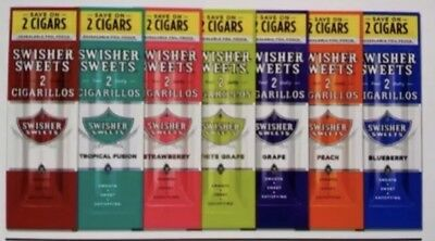 Swisher Sweets Different Flavours 15 Pouches 2 Per Pouch 30 Cigar Total