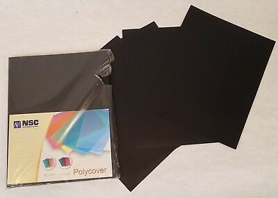 """Black 12mil Sand Poly 8.75"""" x 11.25"""" Binding Covers  50 pack  Free Shipping NEW"""
