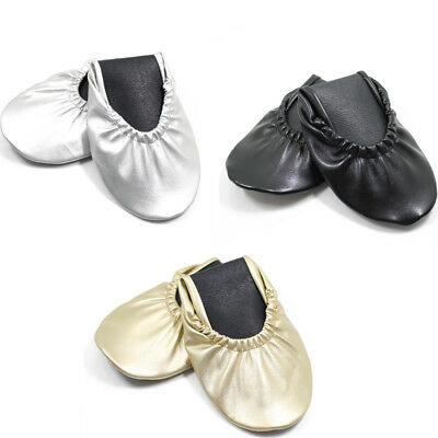 794a573e5 Women's Foldable Portable Travel Ballet Flat Shoes w/ Matching Carrying Case