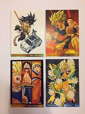 Dragon Ball Weekly Jump Illust Collection FULL COMPLETE SET 4/4 2002-2004