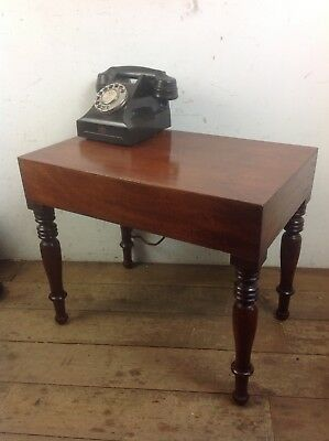 Victorian mahogany wood coffee side table old antique