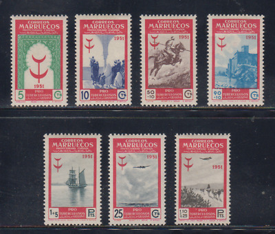 Morocco (1951) Mlh New With Stamp Hinges - Edifil 336/42 - Series Full