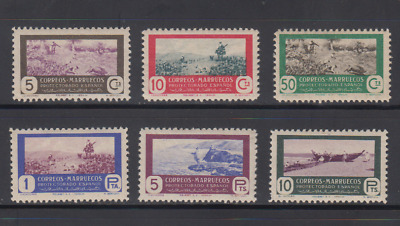 Morocco (1951) Mlh New With Stamp Hinges - Edifil 330/35 - Series Full