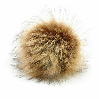 2Pcs Faux Raccoon Fake Fur Hair Huge Ball Fluffy Pompom Hat Bag Shoses Accessory