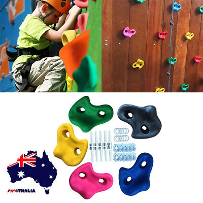 AU Climbing Stones Children's Plastic Holds/Grips for Kids Rock Climbing Walls