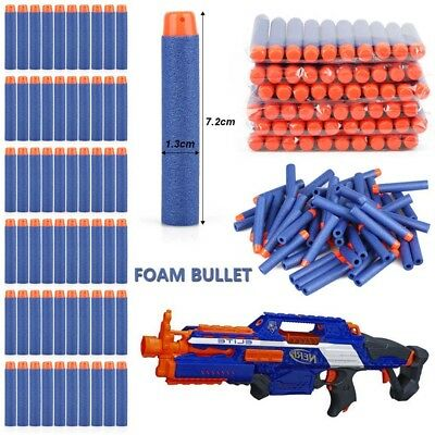 100PCS 7.2CM Gun Soft Darts for Nerf N-Strike Elite Refill Bullets Round Head UK