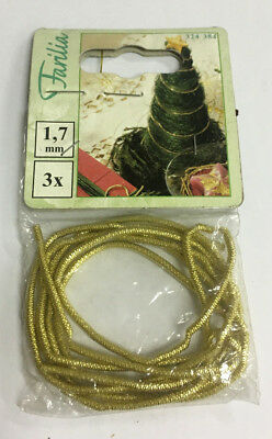 3 Pcs Rope Lanyard Decorative Spring For Christmas Tree Gold Color Metal