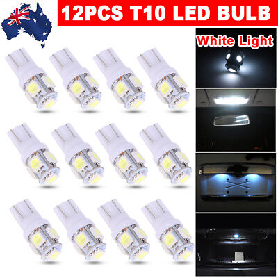 White T10 LED 5050 SMD W5W Tail Side Wedge Parker Bulb Car Number Plate Light