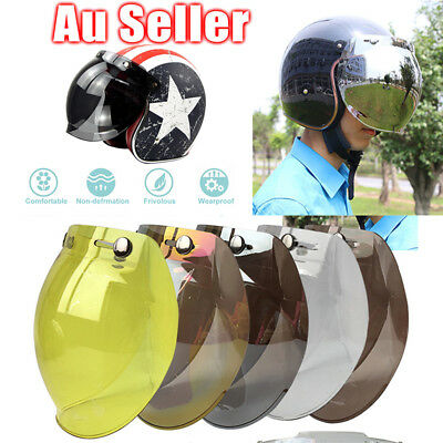Full Anti-scratch Bubble Shaped Visor Lens For Retro Open Face Motorcycle Helmet