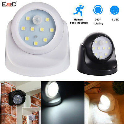 360° Battery Operated Indoor Outdoor Night Motion Sensor Security Led Light Hot