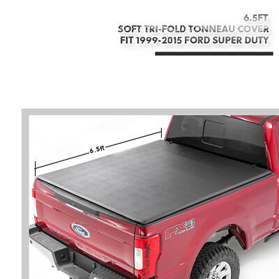 1999-2015 Ford Super Duty 6.5ft Short Bed Soft Assembly Tri-Fold Tonneau Cover
