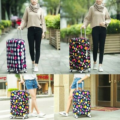Multicolor Dust-Proof Elastic Travel Spandex Luggage Cover Suitcase Protector US