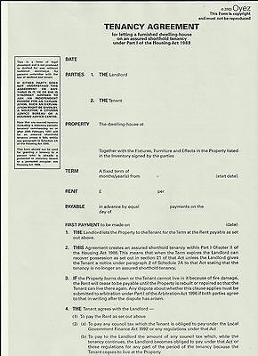 Tenancy Agreement  for a Furnished House or Flat: Assured Shorthold Tenancy...