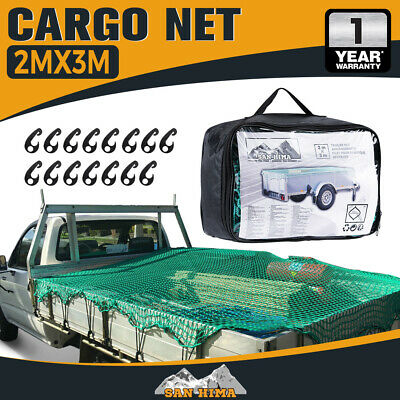 Cargo Net 2X3 Ute Trailer Truck 2Mx3M Nylon 35Mm Mesh Bungee Cord With 15Pc Hook