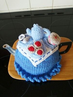 Handknitted afternoon tea, tea cosy