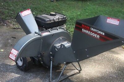 Craftsman Sears 5 Hp Chipper Shredder Starts Right Up Local Pickup Only