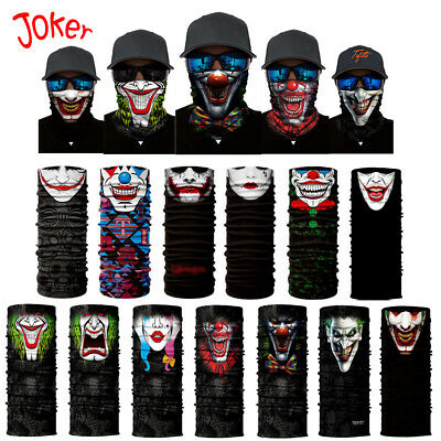 Multi-Purpose Clown Style Fishing Face Shield Headwear Neck Tube Mask Outdoor