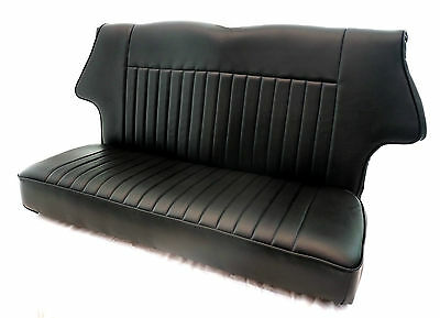 Classic Mini Rear Seat Cover In Black Fits All Classic Minis