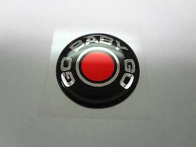 Challenger Charger Journey Push Start Button Emblem Decal Go Baby Go Red SIlver