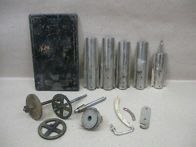 Vtg Columbia Cylinder Phonograph Player Parts Gears Plate Covers Reproducer Back