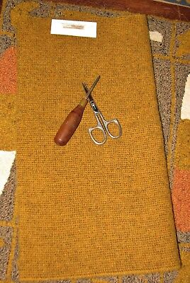 1/4 Yd 100% Wool For Rug Hooking Or Wool Applique ~ Speckled Gold