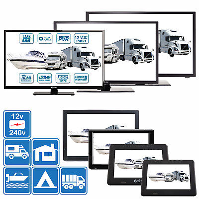 "7"" - 24"" TV's 12v 240v for Motorhomes, Caravans, Boats DVB-T2 HD Freeview & PVR"