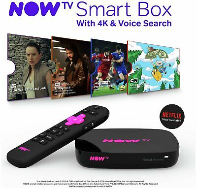 NOW TV Smart Box with 4K and Voice Search.