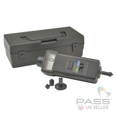 NEW Extech 461895 Combination Contact/Photo Tachometer with LCD Display