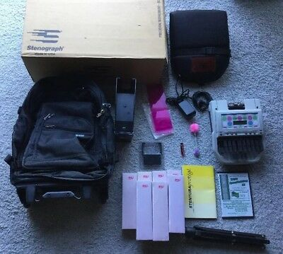 Stenograph Stentura Protege - Court Reporting Writer w/Backpack & Accessories!
