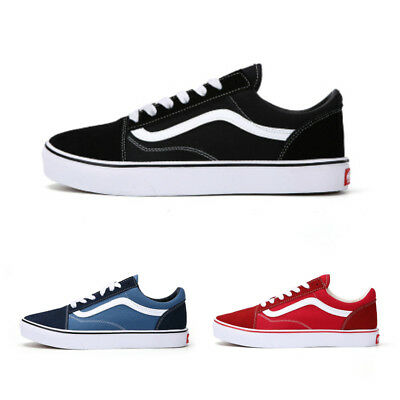 New Van s Old Skool Skate Shoes Classic Canvas Sneakers All Sizes