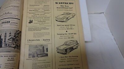 1958 Auto Ads in Magazine for Military In Augsburg Germany