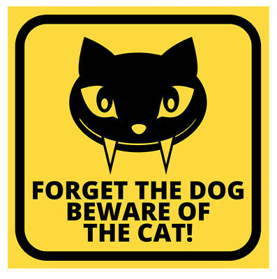 Beware Of The Cat Metal Sign, Retro Wall Plaque, Funny Animal Art