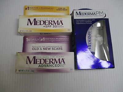 3 Mederma  Scar Products As Pictured Exp 1/19+ Jl 7390