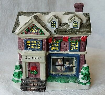 Wellington Square Collection 2004 School Ceramic Village Christmas Holiday House