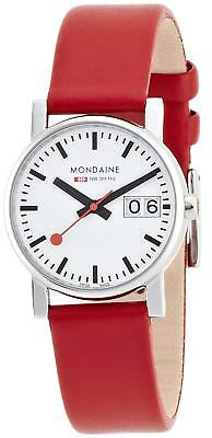Mondaine Women's A669.30305.11SBC 30mm Big Date Leather Band Watch