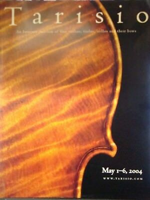 Very rare auction catalogue Antique Violins Cellos Bows USA Europe May 2004
