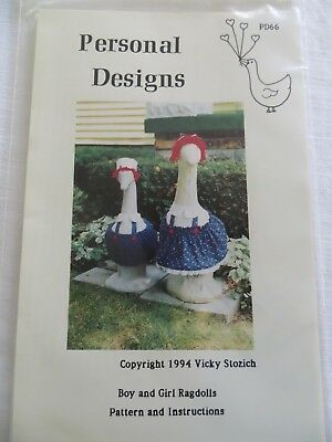 Ragdolls Goose Clothes Pattern Personal Designs Geese Clothes New Uncut