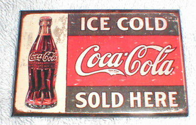 Classic Ice Cols Coca-Cola Sold Here 1916 Sign - Magnet, New!