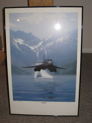 """Power"" Dru Blair B-1B Bomber Signed Aviation Print (Print Only - No Frame incl)"