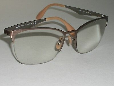 950dcca6b1 Ray Ban Rb6345 2732 54  17 135 Sleek Half Rimless Flex Eyeglasses Frames  Only