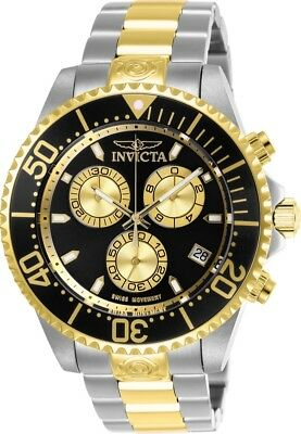 Invicta 26850 Pro Diver Men's 47mm Chronograph Two-Tone Steel Black Dial Watch