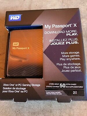 Western Digital WD My Passport X 2TB portable gaming drive for Xbox One (USB 3.0