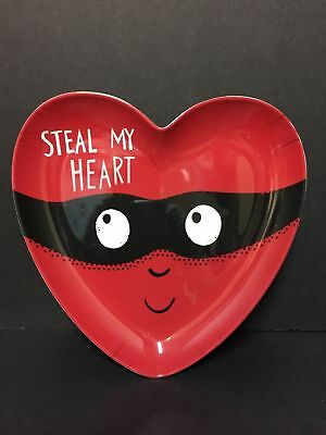 Pottery Barn Kids VALENTINE'S Day Steal MY Heart PLATE Kitchen Table GIFT NEW