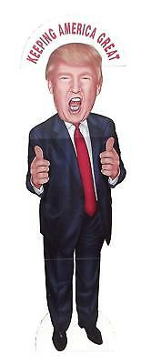 Aahs Engraving President Donald Trump Middle Finger or Thumbs Up Life Size Stand