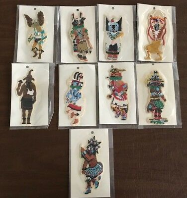 Vintage Kachina Embroidery Patches Lot of 9 Each Different