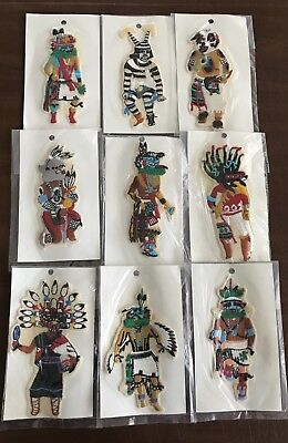 Vintage Lot of 9 Kachina Patches Each Different