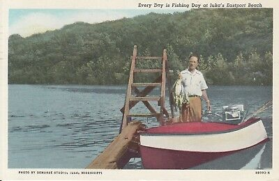 IUKA MS Fishing Pickwick Lake Eastport Beach 1960 MISSISSIPPI