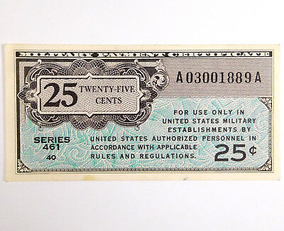 25 Cents U.S. Military Payment Certificate - Series 461