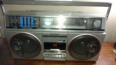Sony Cfs-500 Boombox Ghetto Blaster Stereo Cassette Equalizer Please Read