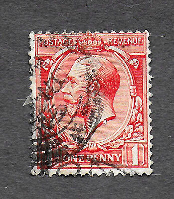 GREAT BRITAIN 1924-28 KING GEORGE V, 1P USED RED (Free S&H in US only)